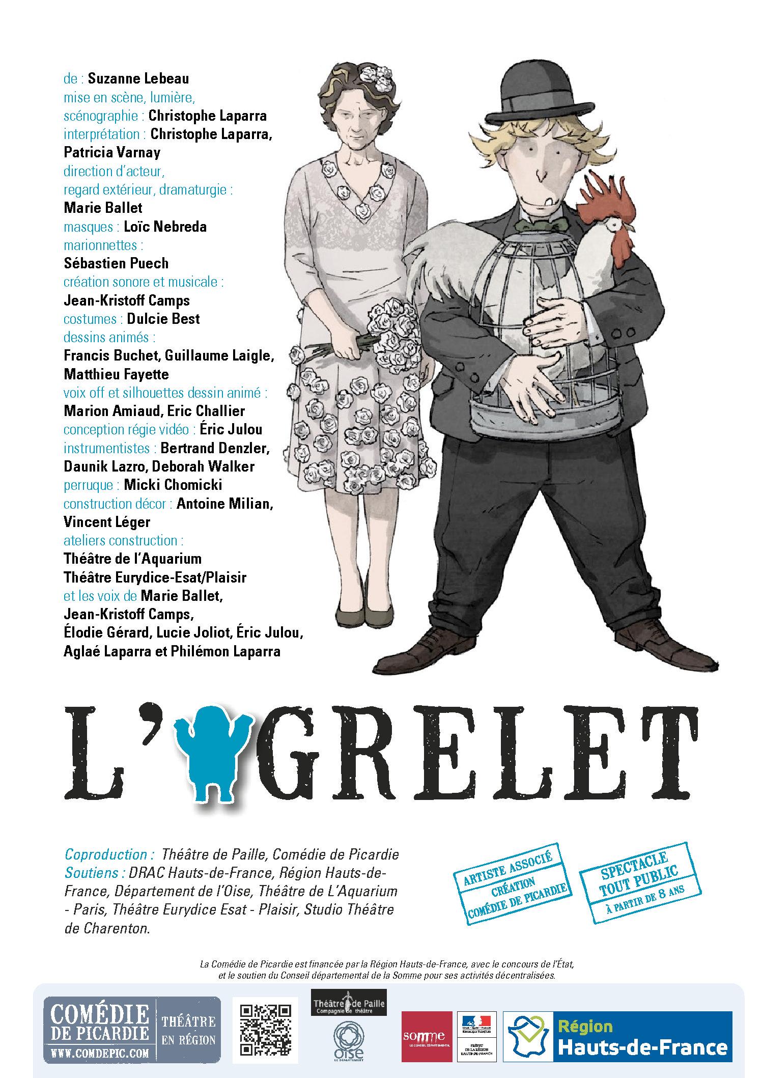 Le Théâtre de Paille – Spectacle l'Ogrelet – texte de Suzanne Lebeau
