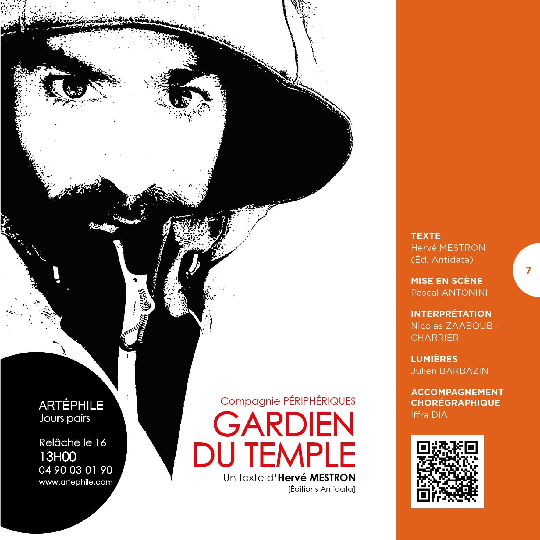 GARDIEN DU TEMPLE Hervé Mestron diptyque 2/2           Avignon 21 //  Diffusion